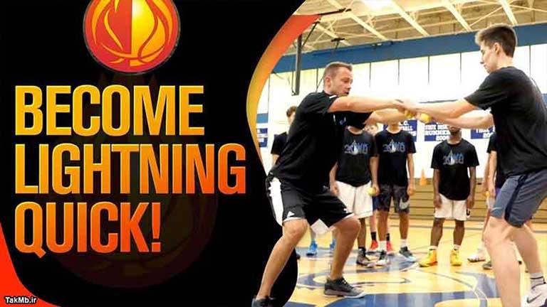 تمرین دو نفره برای افزایش سرعت عکس العمل در بسکتبال