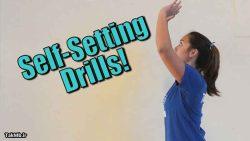 تمرین پاس با پنجه در والیبال به صورت انفرادی