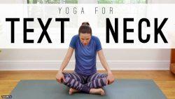 آموزش یوگا برای درد گردن ناشی از مطالعه