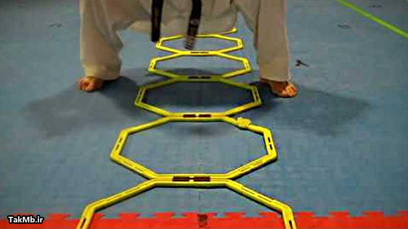 آموزش تمرین با نردبان در تکواندو