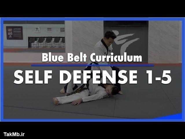 تمرین قسمت اول کمربند آبی فرم تکواندو - Self Defense