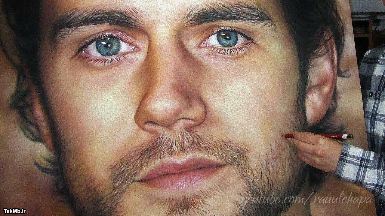 فیلم نقاشی چهره با پاستل گچی - پرتره هنری کویل