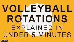 آموزش کامل چرخش بازیکنان والیبال در 5 دقیقه
