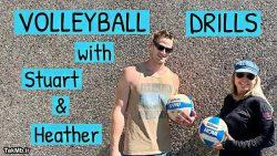 تمرینات روی تور مشترک والیبال سالنی و ساحلی