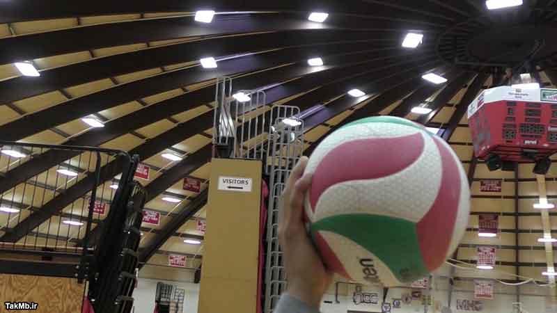 آموزش چگونگی اجرای سرویس پرشی در والیبال